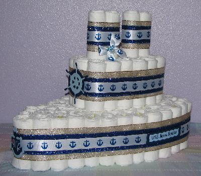 Nautical Diaper Cake