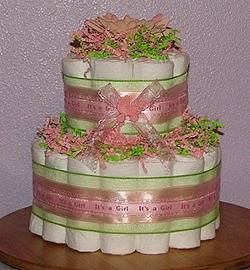 Baby Shower Table Centerpieces An Ideal Diaper Cake ...