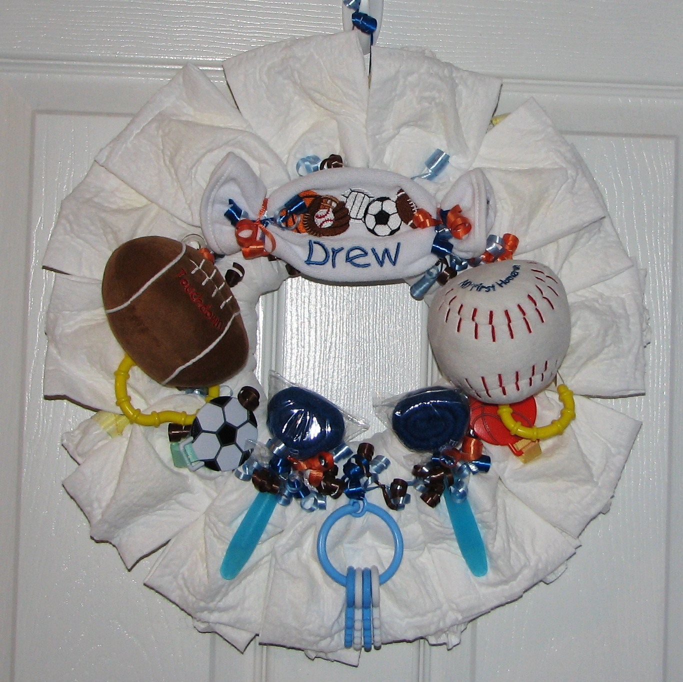 Sports Diaper Wreath.JPG - All Sports Diaper Wreath