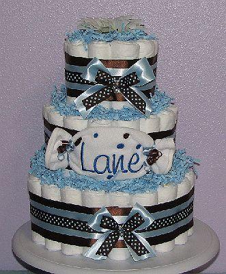 Baby Love Diaper Cakes/BabyGiftSet/Polka Dot Baby Shower ...