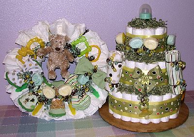 Pin Washcloth Lollipopsbaby Shower Favorsdiaper Cakes Cake