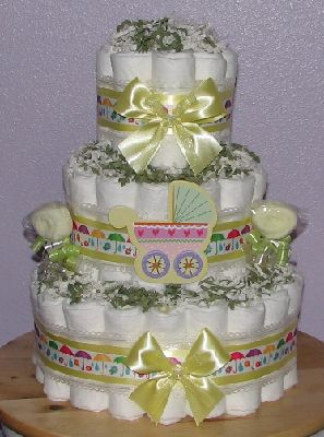 Sprinkle Baby Shower Diaper Cake