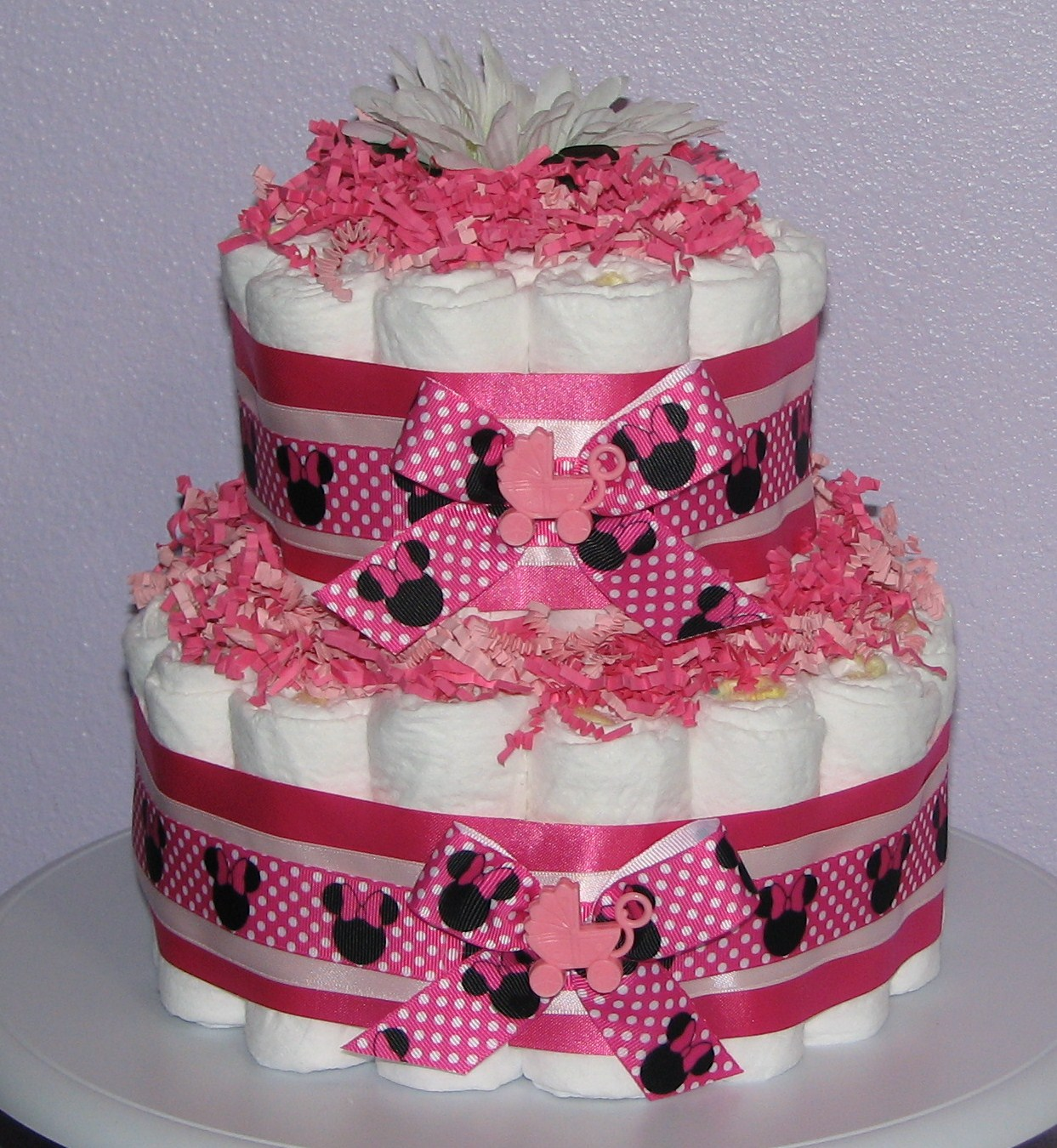 Minnie-Mouse-Diaper-Cake.JPG - Minnie Mouse Diaper Cake