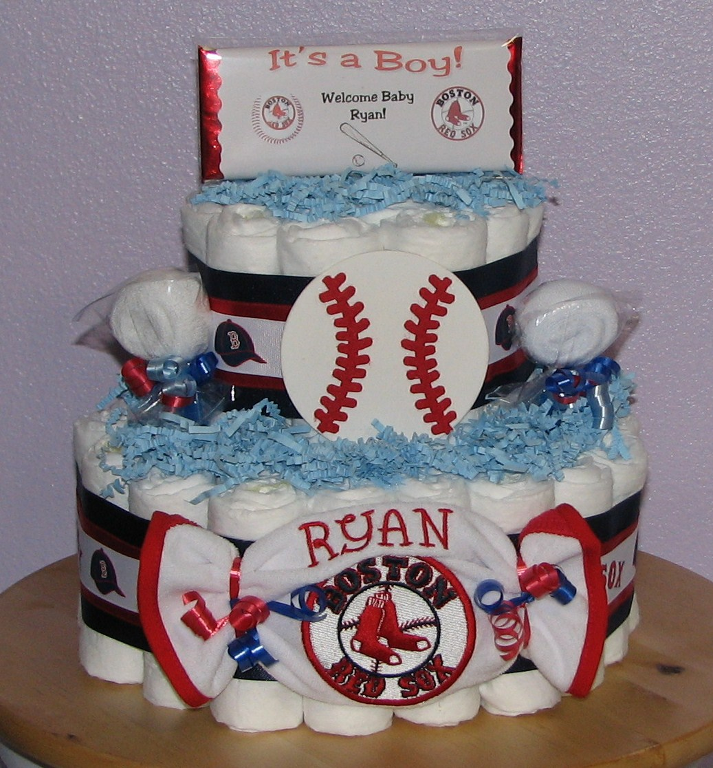 Boston-Red-Sox-Diaper-Cake.JPG - Boston Red Sox