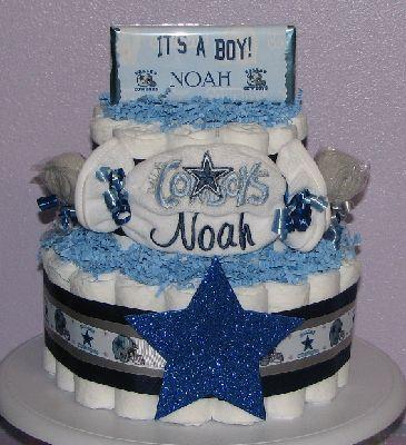 Dallas Cowboys Diaper Cake Ideas And Designs