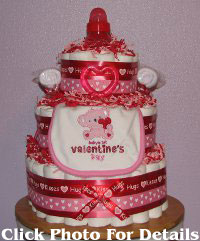 Valentine Diapers Cake