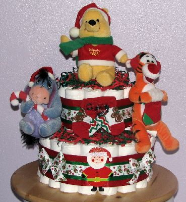 how to make a winnie the pooh diaper cake