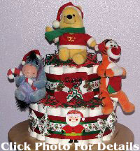 Pooh Christmas Shower Cake