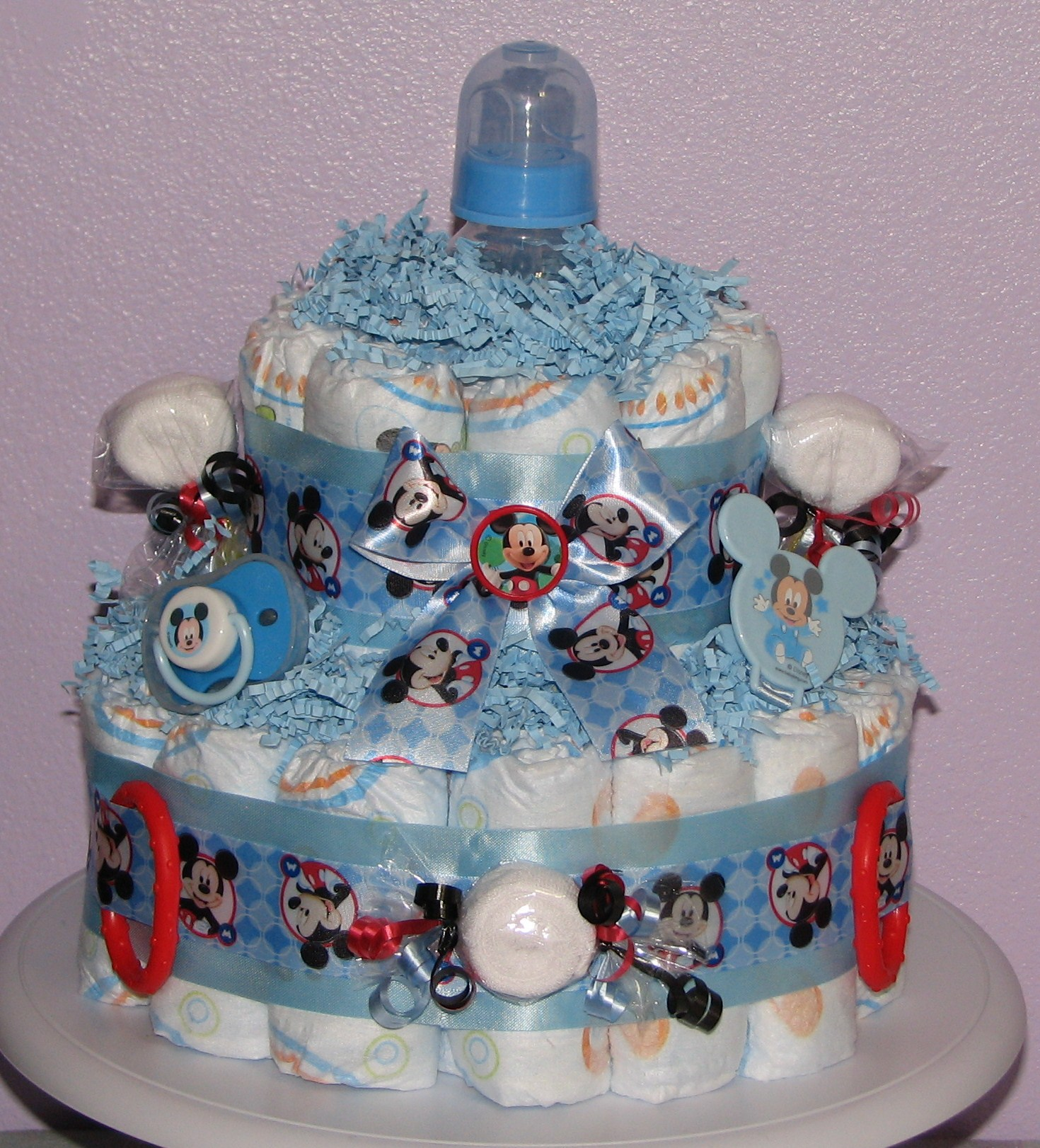 Mickey-Mouse-Diaper-Cake.JPG - Mickey Mouse Diaper Cake