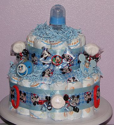 mickey mouse cake. JPG - Mickey Mouse Diaper Cake