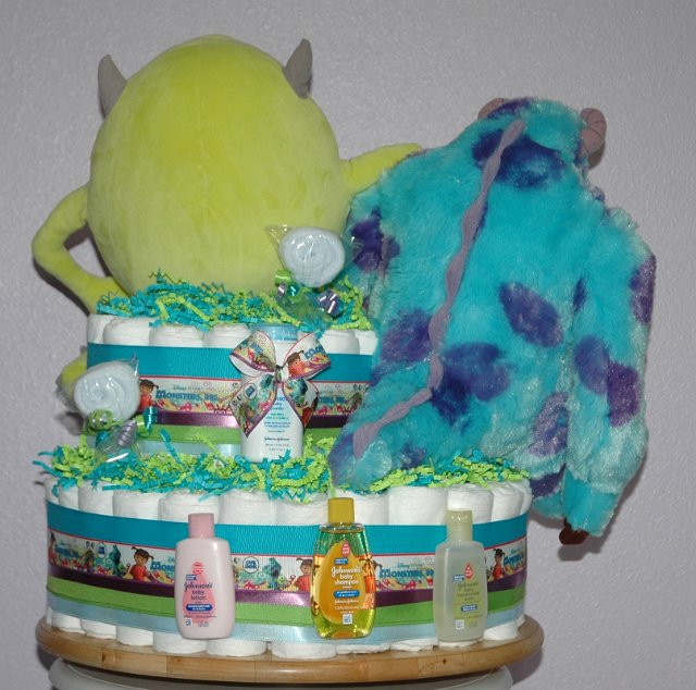 Monsters Inc Diaper Cake