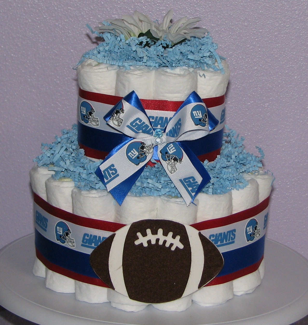 ny-giants-diaper-cake.JPG - NY Giants Diaper Cake