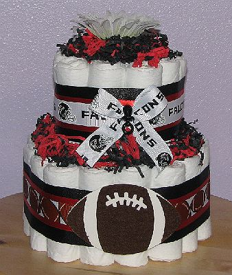 Atlanta Falcons Diaper Cake