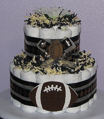 New Orleans Saints Diaper Cake