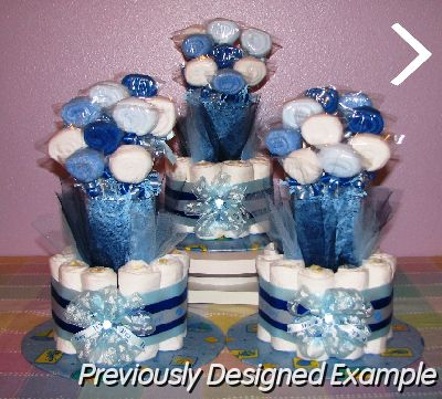 Table Centerpieces - Baby Shower Favors/blue baby bouquets