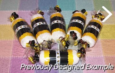 Table Centerpieces - Baby Shower Favors/bumble bee candies