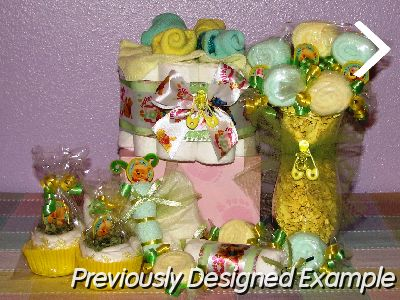 Table Centerpieces - Baby Shower Favors/winnie the pooh neutral
