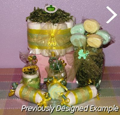 Table Centerpieces Shower Favorsyellow Green Favors Gift Set