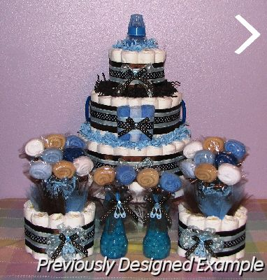 Baby Boy Diaper Cakes/Baby Shower Table Decorations