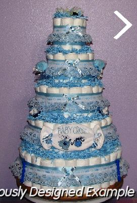 Boy Baby Shower Diaper Cakes