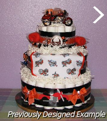 Beautiful JPG   Custom Harley Davidson 3 Tier, Pesonalized Shower Favors