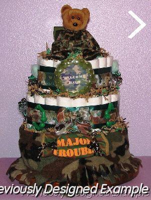 Baby Boy Diaper Cakescamo military bear