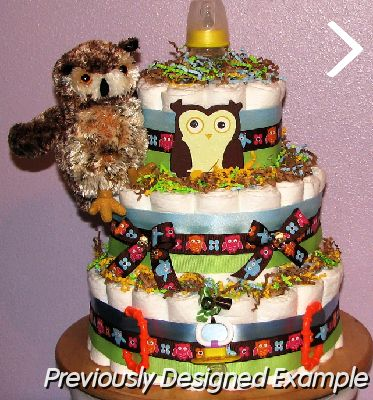 Pin On Baby Love Diaper Cakes Boy Owl Cake On Pinterest