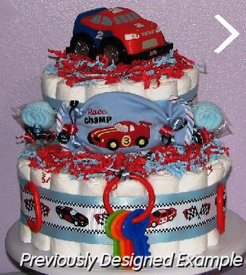 How To Make A Race Car Diaper Cake