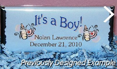 BabyLoveDiaperCakesCustom Candy Bar WrappersChocolate Birth – Baby Announcement Candy