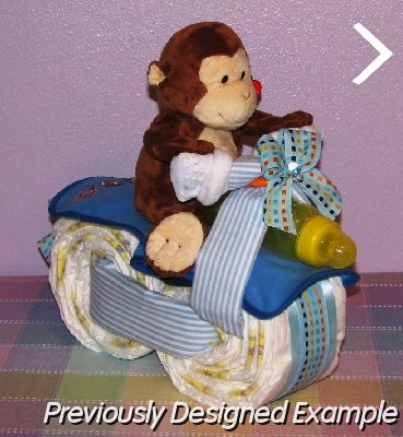 Pin How To Make A Diaper Cake Tricycle Instruction Cake On