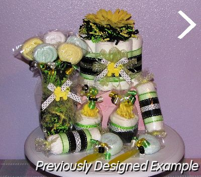Diaper Cupcakes Table Centerpieces Black And Lime Baby Shower