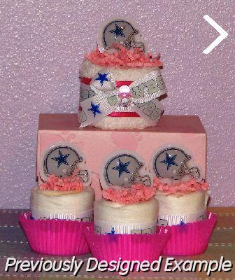 ( Diaper Cupcakes   Table Centerpieces #43 ), Cowboys Baby Shower Favors.JPG    Dallas Cowboys Mini Cupcakes U0026 Towel