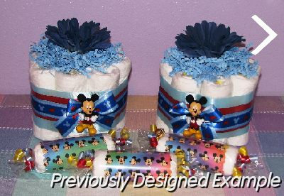Diaper Cupcake Table Centerpieces/Mickey Mouse Diaper Creatons