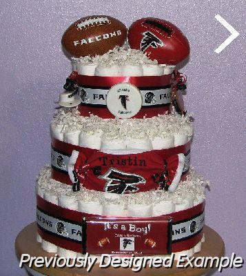 All Sports Diaper Cakes Atlanta Falcons Cake
