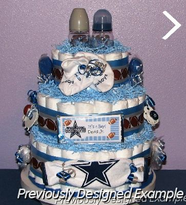 All Sports Diaper Cakes Twins Cowboys Football