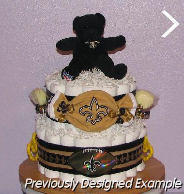 New Orleans Saints Diaper Cake