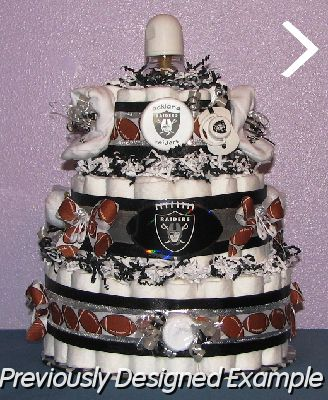 All Sports Diaper Cakes Pacifier Oakland Raiders