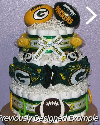 All Sports Diaper Cakes Gb Packers Football