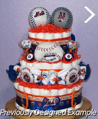 All Sports Diaper Cakes New York Mets Cake