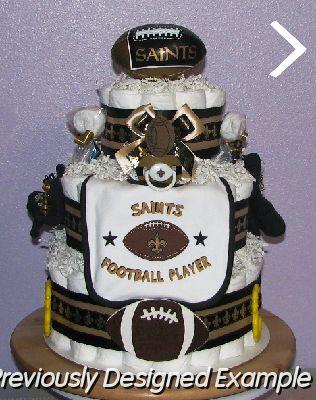 All Sports Diaper Cakes 61 New Orleans SaintsJPG