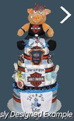 Harley-Davidson Diaper Cake