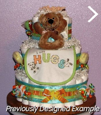 Neutral-Diaper-Cake (2).JPG - Neutral Baby Diaper Cake
