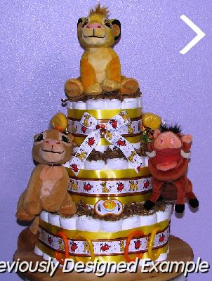 Winnie The Pooh Other Disney Lion King Diaper Cakes