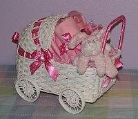 Baby Wicker Carriage Gift
