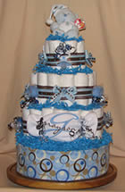 Grayson Embroidered Diaper Cake