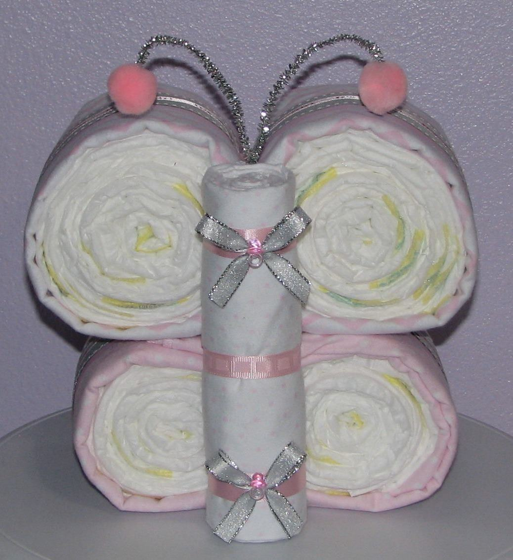 Diaper Butterfly Centerpiece