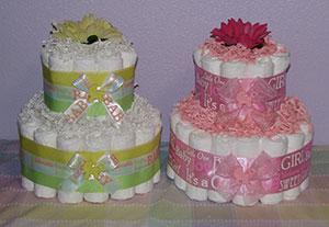 how to make a diaper cake centerpieces