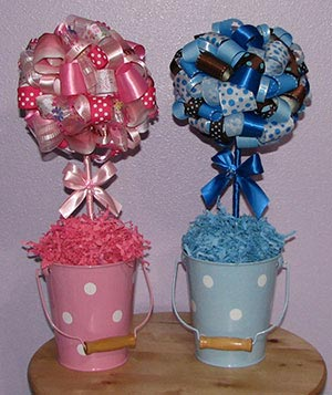 Decorative Ribbon Centerpieces