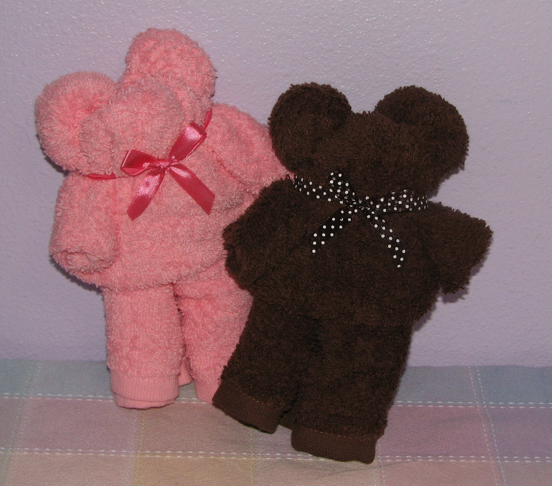 Washcloth Towel Teddy Bear