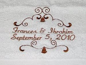 Bridal Shower Embroidery